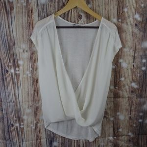 Nordstrom Halogen Sheer Sleeveless Shirt Top Med